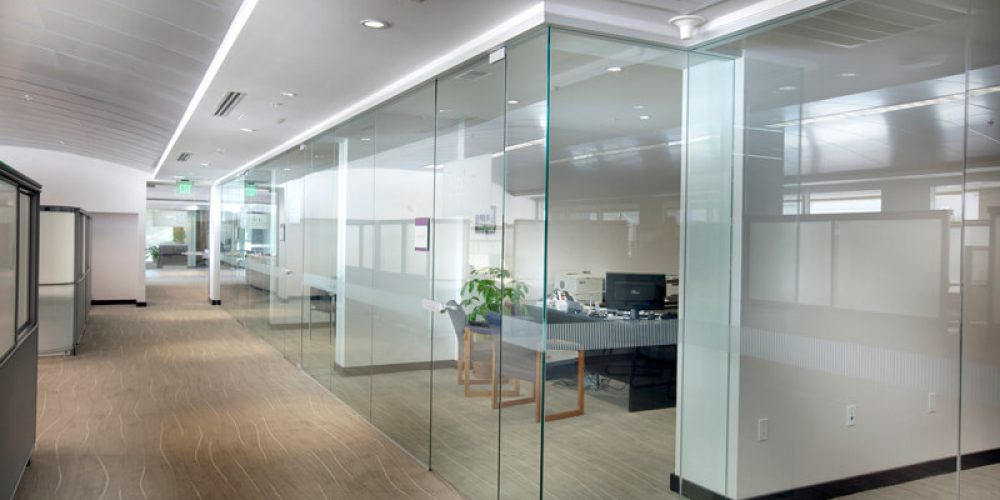 Modular and full glass partitions - MR Profiil